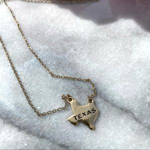Texas pendant small chain necklace